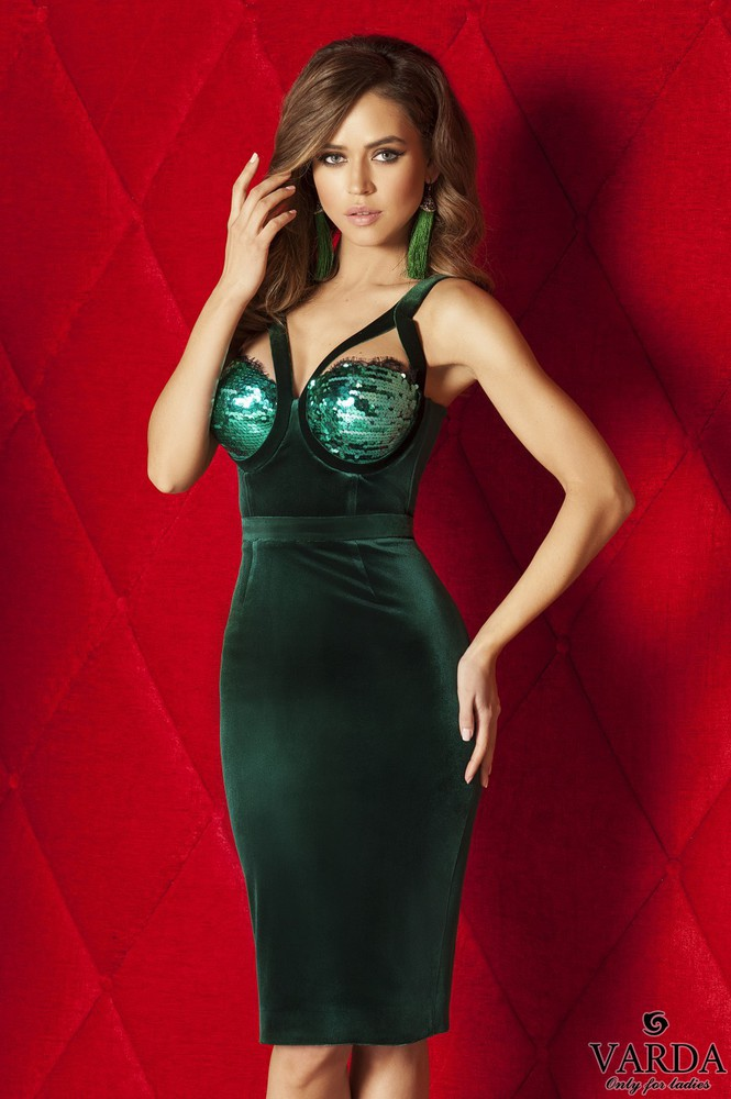 "Dress ""Bird Paradise"" green"